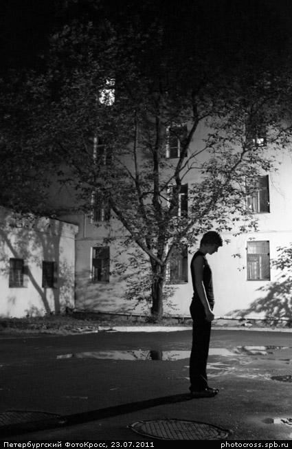 Фотокросс «17-й ночной», кросс Черное и белое команды №23